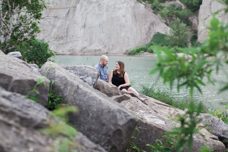 scarborough bluffs engagement shoot