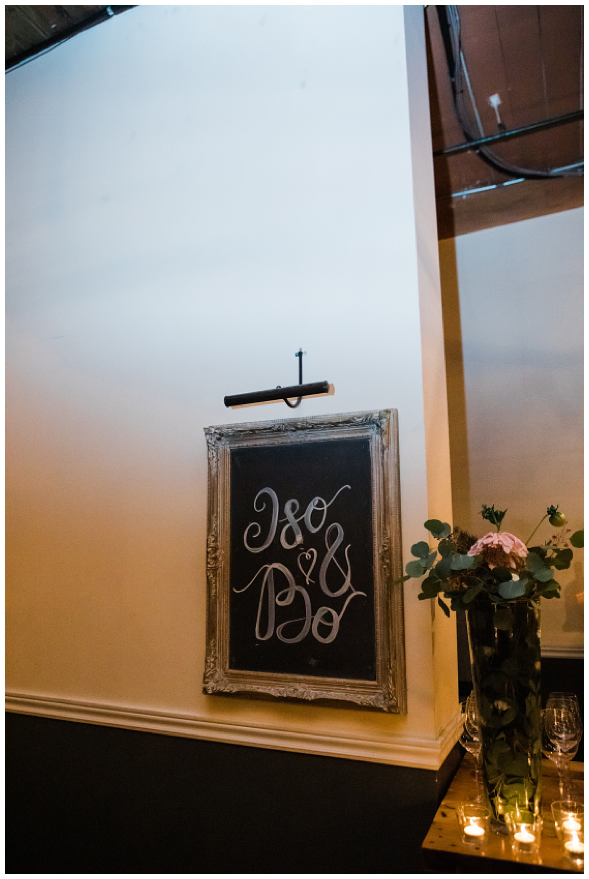 Wedding sign with couple's names