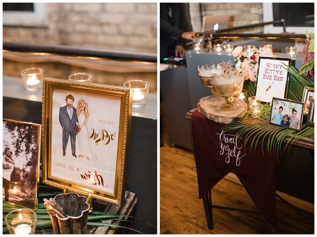 wedding reception welcome table