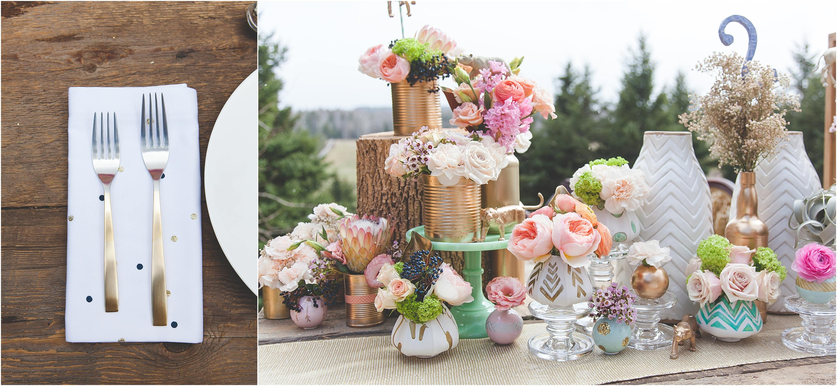 Geo Floral Inspired Styled Shoot