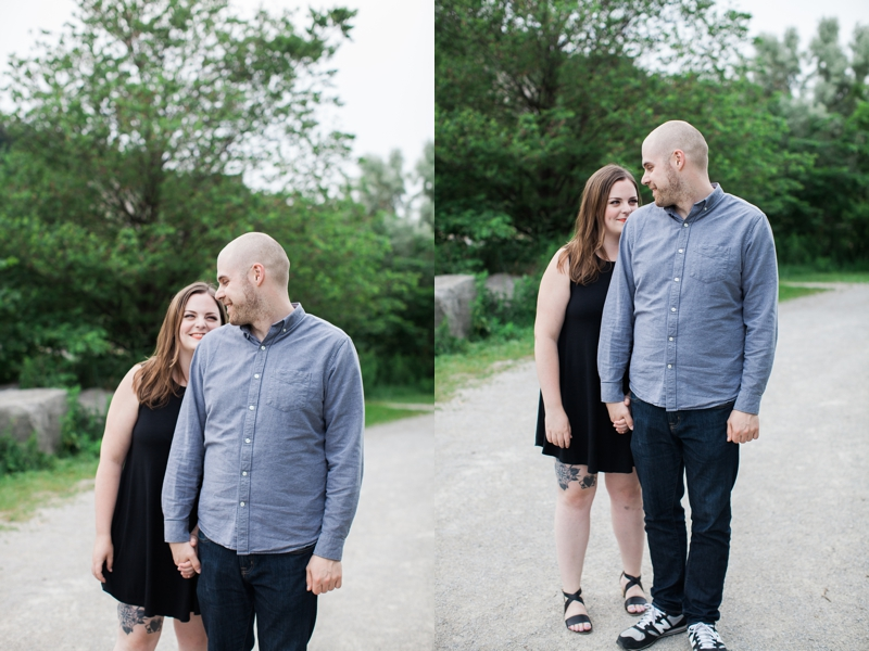 toronto engagement shoot