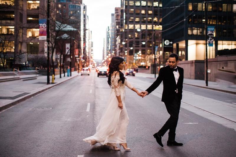 Toronto Winter City Wedding