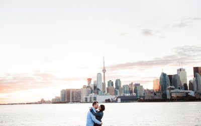 Downtown Toronto Skyline Engagement Photos