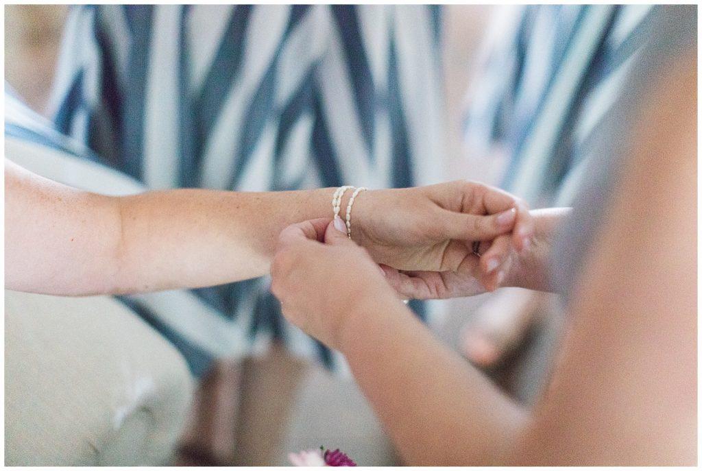 Close up of bridal bracelet at Guelph Ontario Wedding | Ontario Wedding Photographer | Toronto Wedding Photographer | 3photography