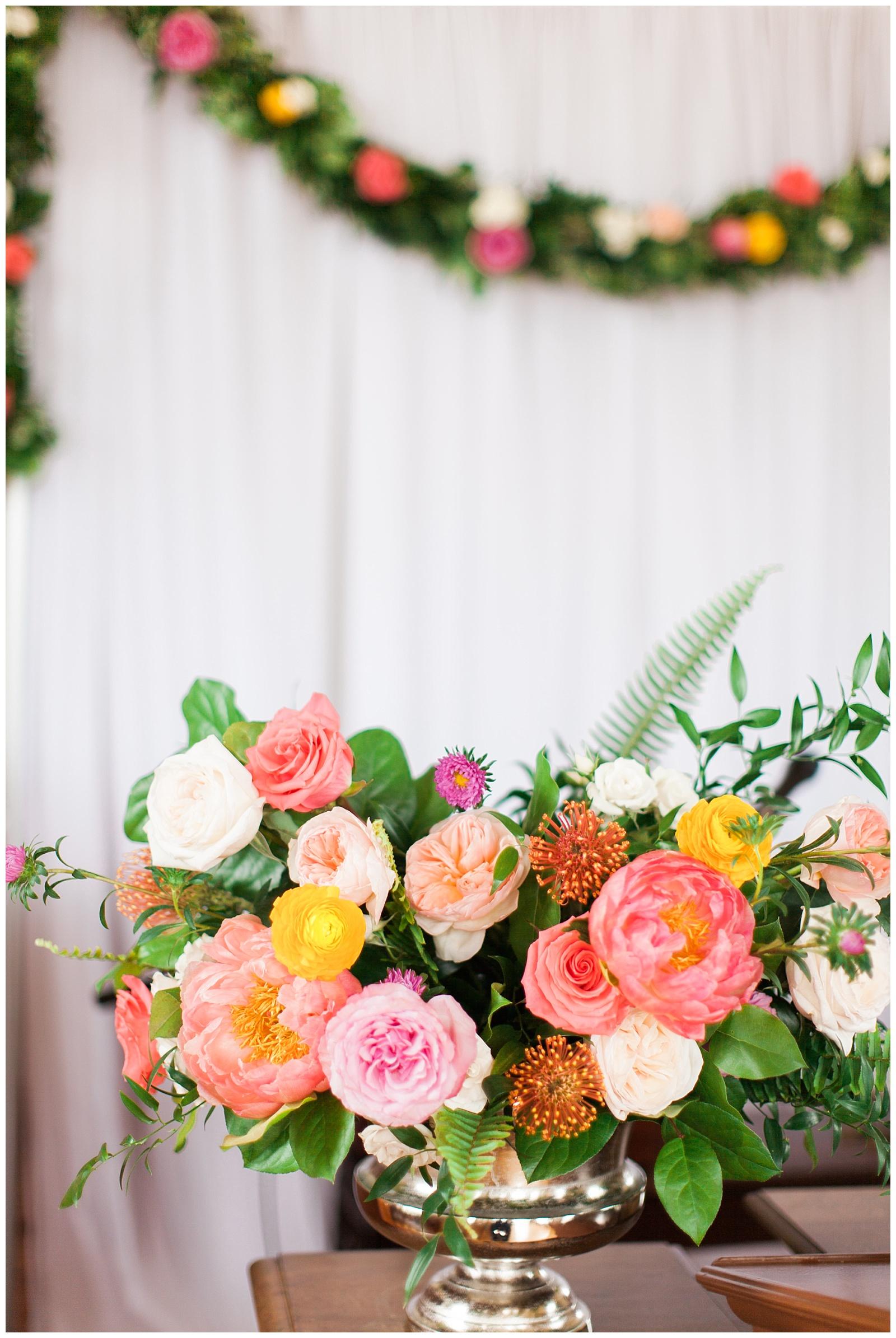 Centerpiece flowers for reception at Guelph Ontario Wedding | Ontario Wedding Photographer | Toronto Wedding Photographer | 3photography
