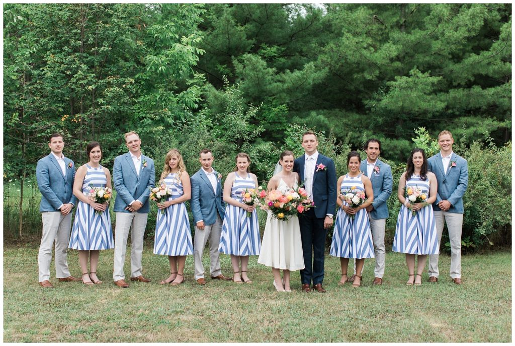 Bridal party paired up outside at Guelph Ontario Wedding | Ontario Wedding Photographer | Toronto Wedding Photographer | 3photography