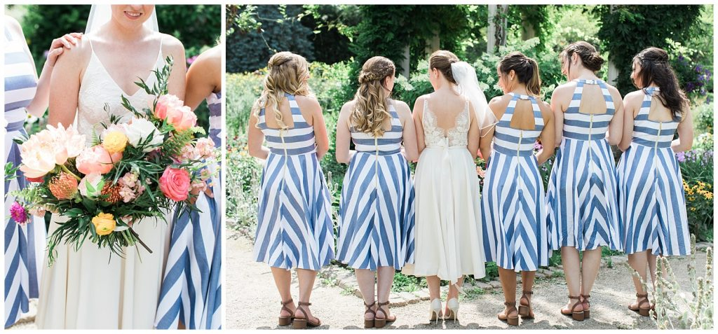 Bridesmaids black and white striped dress details at Guelph Ontario Wedding | Ontario Wedding Photographer | Toronto Wedding Photographer | 3photography