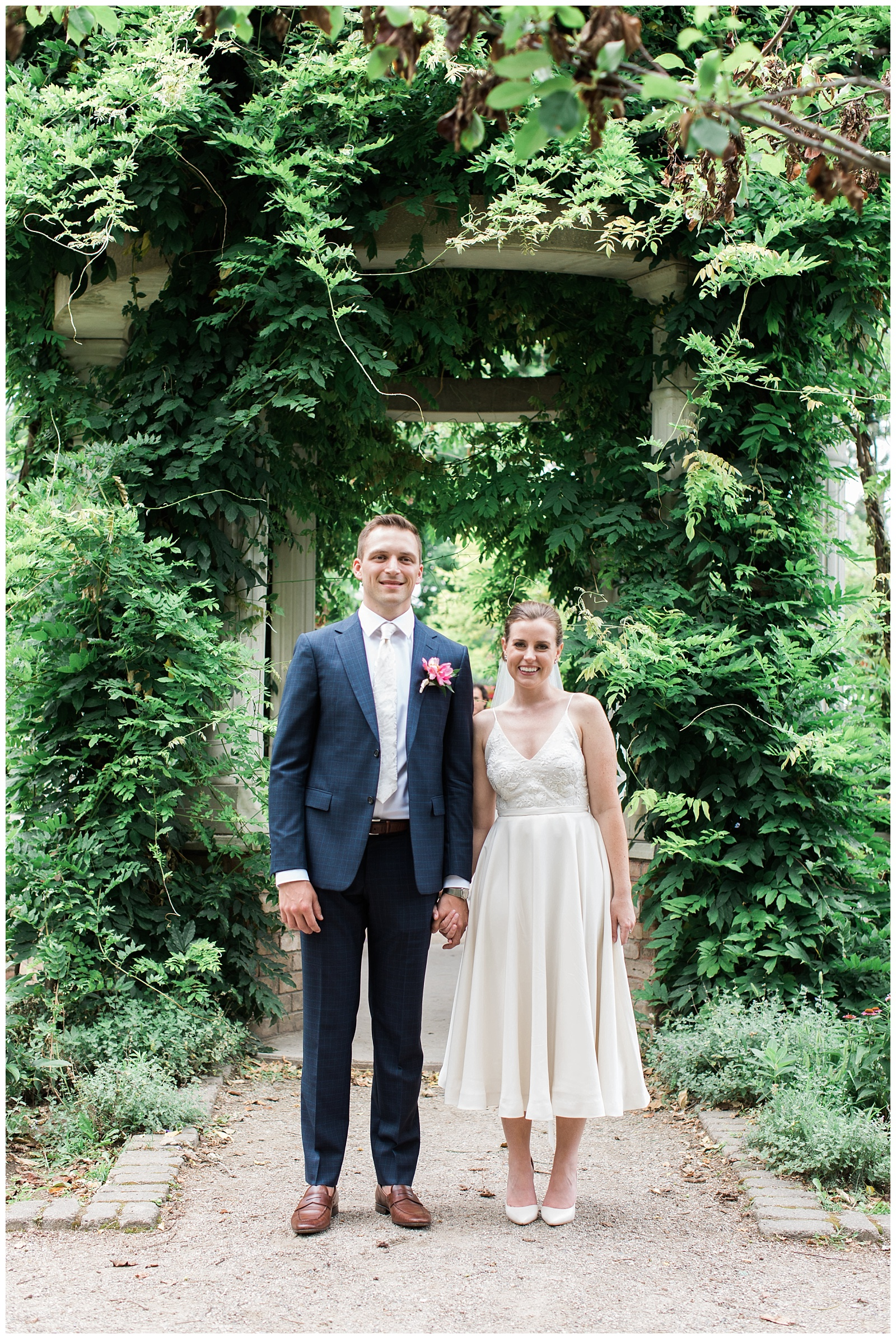 Bride and groom surrounded by greenery at Guelph Ontario Wedding | Ontario Wedding Photographer | Toronto Wedding Photographer | 3photography