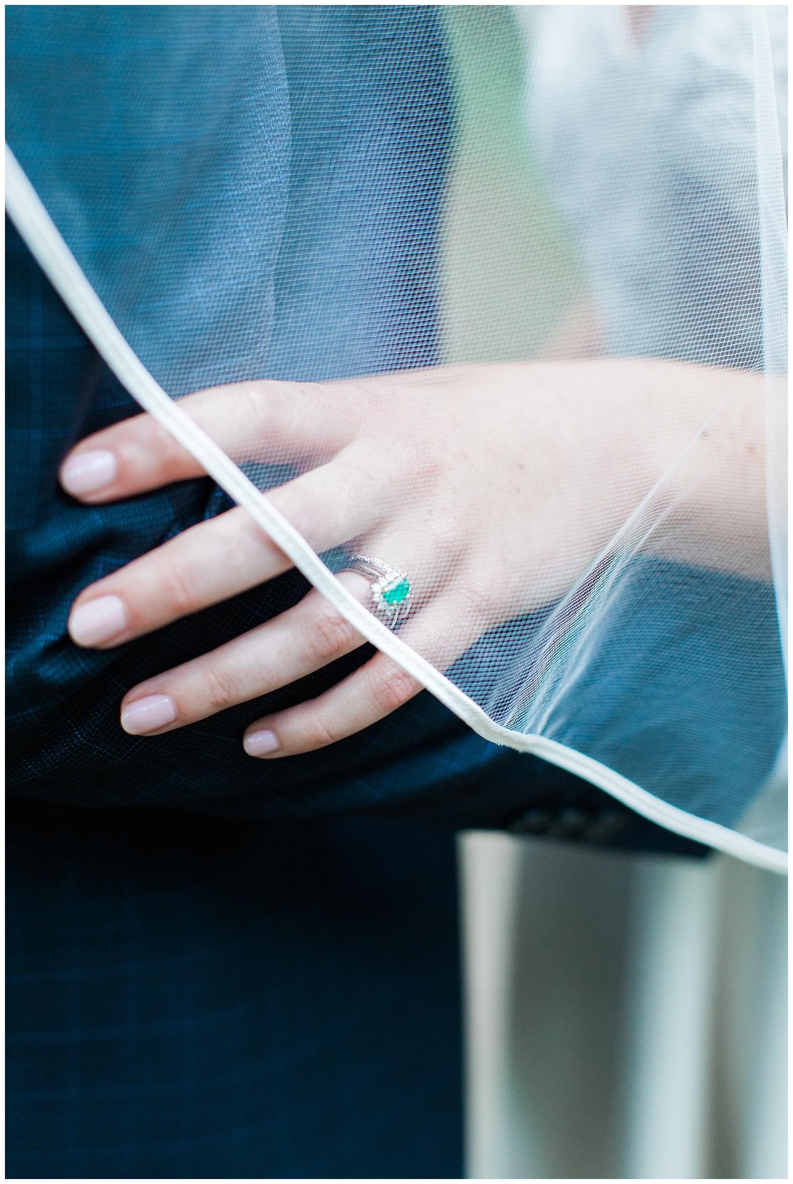 Bridal ring under veil at Guelph Ontario Wedding | Ontario Wedding Photographer | Toronto Wedding Photographer | 3photography