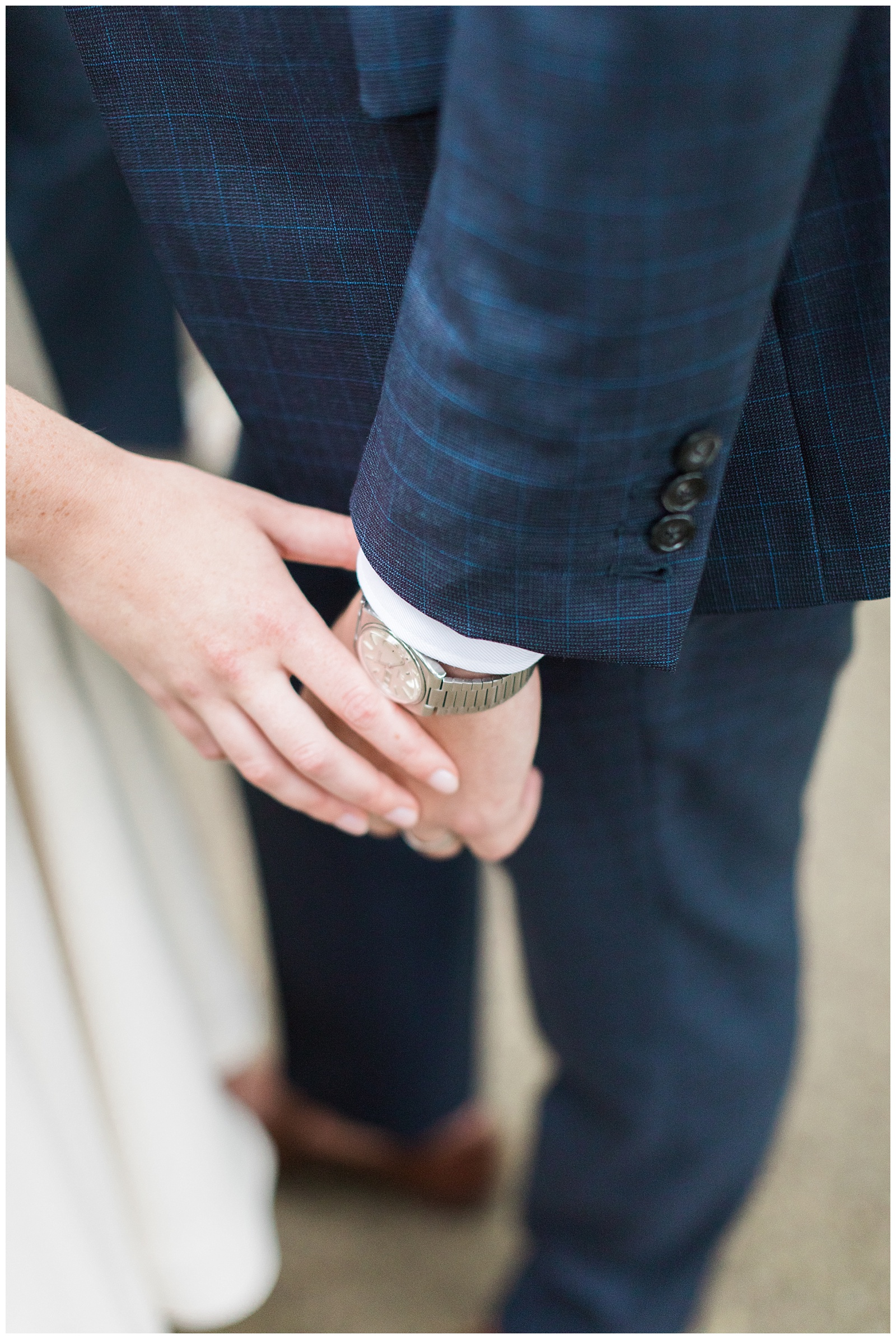 Close up of bride and groom holding hands at Guelph Ontario Wedding | Ontario Wedding Photographer | Toronto Wedding Photographer | 3photography
