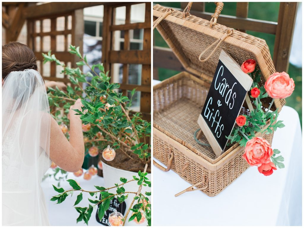 Gift card basket and clementines at Guelph Ontario Wedding | Ontario Wedding Photographer | Toronto Wedding Photographer | 3photography