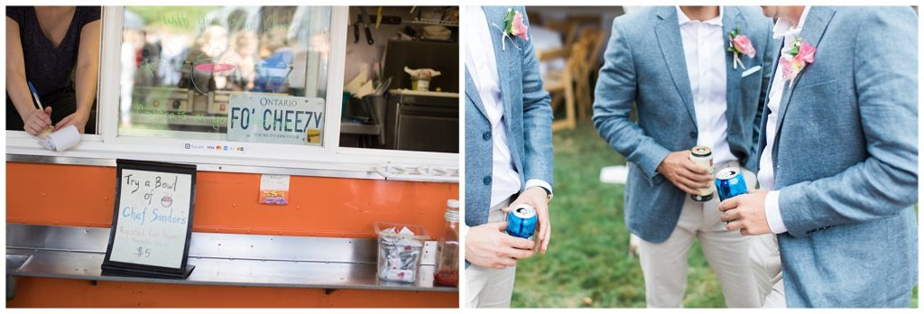 Food truck and refreshing drinks at Guelph Ontario Wedding | Ontario Wedding Photographer | Toronto Wedding Photographer | 3photography