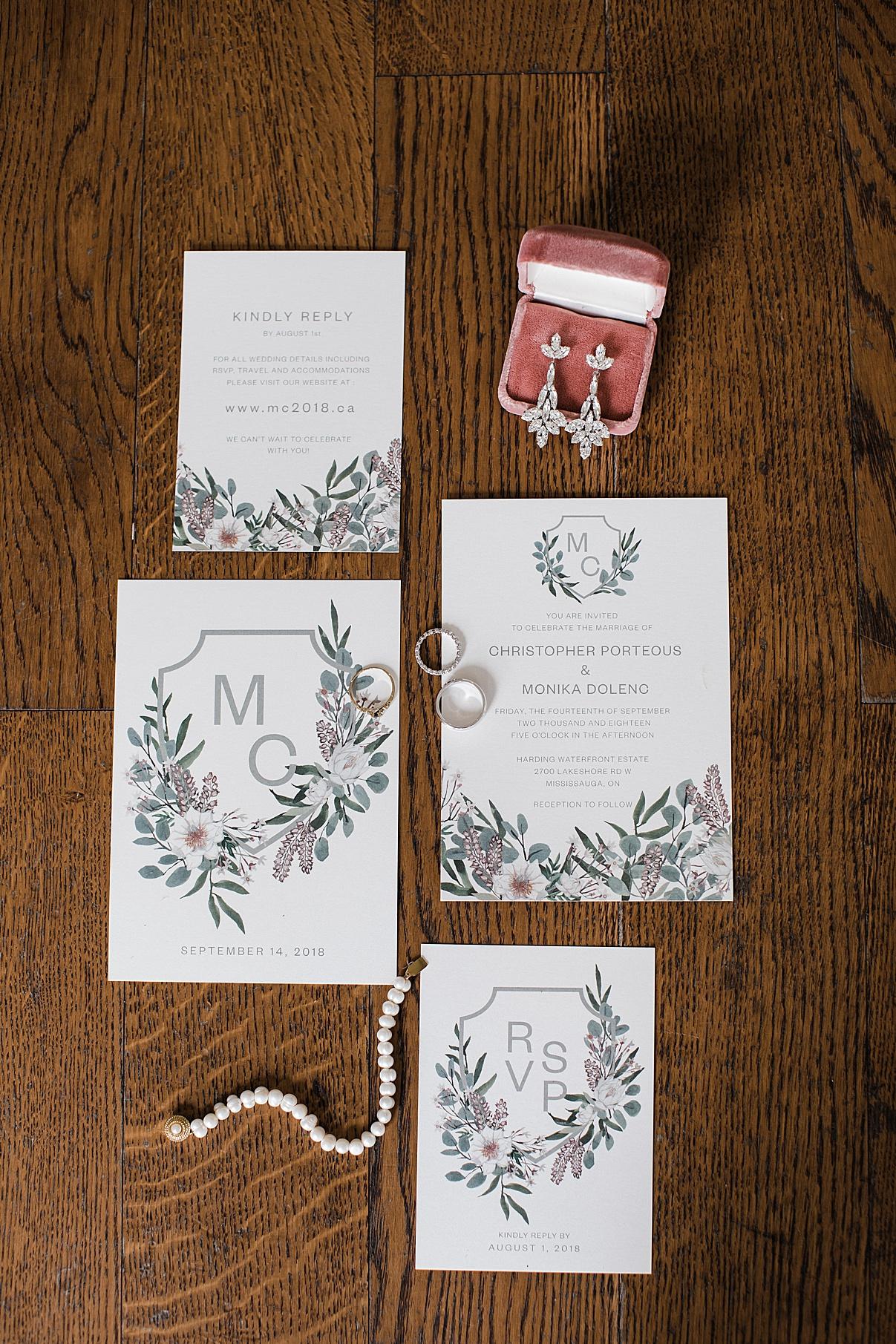 Wedding Invitations | Harding Waterfront Estate Wedding| Ontario wedding photographer| Toronto wedding photographer| 3 Photography | 3photography.ca