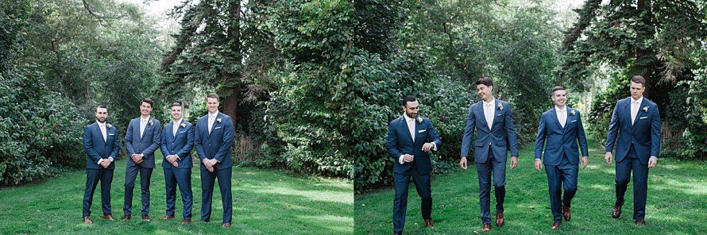 Groomsmen outside in field| Harding Waterfront Estate Wedding| Ontario wedding photographer| Toronto wedding photographer| 3 Photography | 3photography.ca