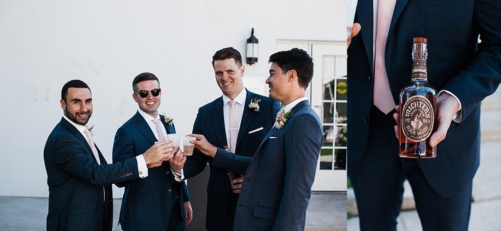 The guys toasting before the wedding| Harding Waterfront Estate Wedding| Ontario wedding photographer| Toronto wedding photographer| 3 Photography | 3photography.ca