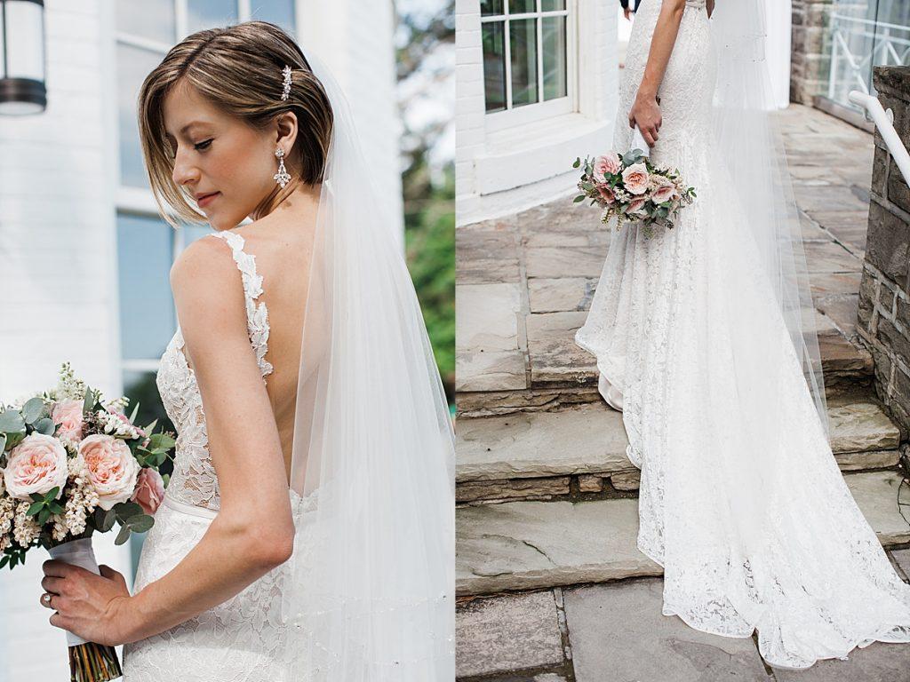 Bridal portrait on stairs| Harding Waterfront Estate Wedding| Ontario wedding photographer| Toronto wedding photographer| 3 Photography | 3photography.ca
