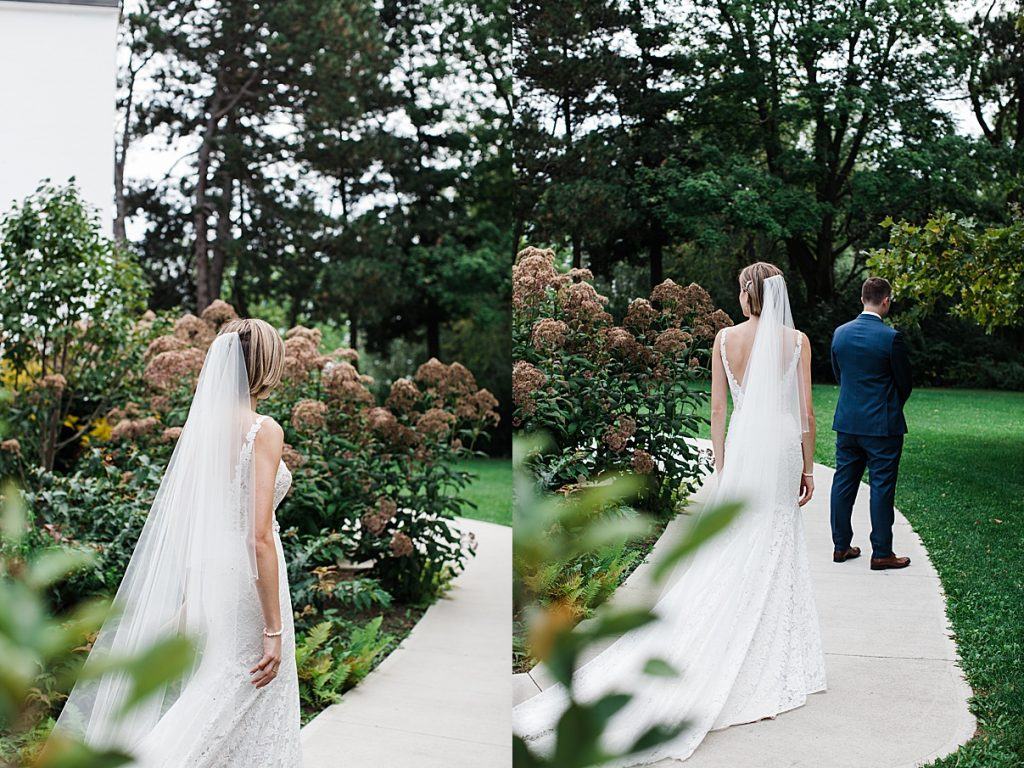 Bride sneaks up on groom for first look| Harding Waterfront Estate Wedding| Ontario wedding photographer| Toronto wedding photographer| 3 Photography | 3photography.ca