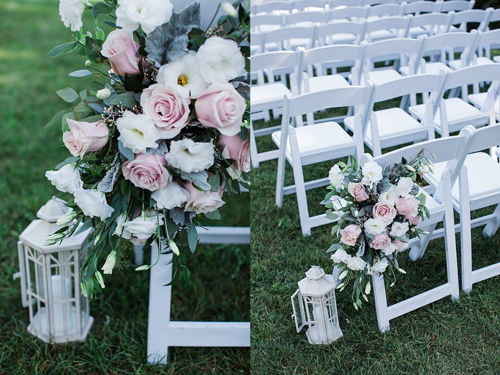 Chairs and flowers | Harding Waterfront Estate Wedding| Ontario wedding photographer| Toronto wedding photographer| 3 Photography | 3photography.ca