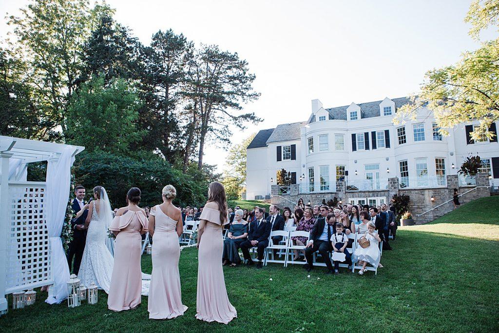 Wedding ceremony| Harding Waterfront Estate Wedding| Ontario wedding photographer| Toronto wedding photographer| 3 Photography | 3photography.ca