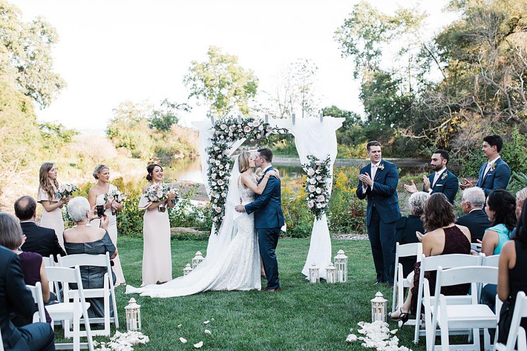 You may kiss the bride| Harding Waterfront Estate Wedding| Ontario wedding photographer| Toronto wedding photographer| 3 Photography | 3photography.ca