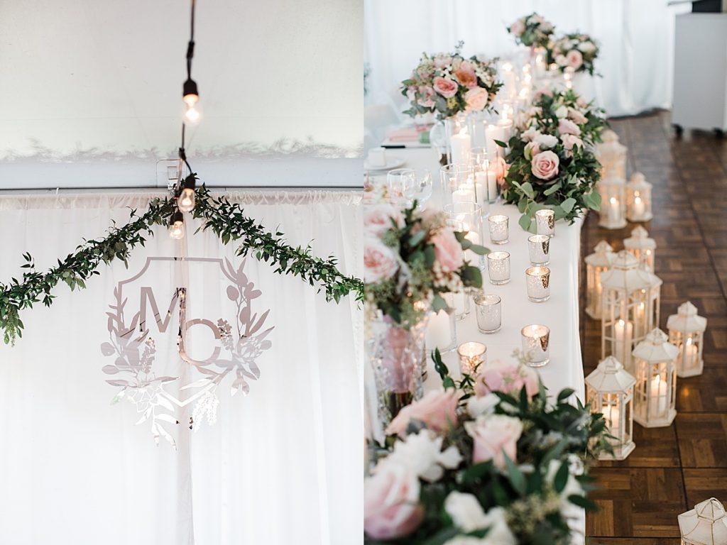 Wedding reception decorations candles, flowers and string lights| Harding Waterfront Estate Wedding| Ontario wedding photographer| Toronto wedding photographer| 3 Photography | 3photography.ca