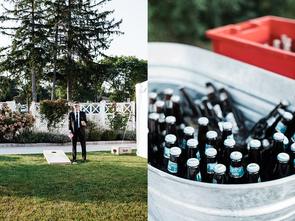 Wedding reception games and beer| Harding Waterfront Estate Wedding| Ontario wedding photographer| Toronto wedding photographer| 3 Photography | 3photography.ca