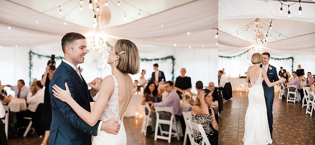Bride and groom first dance| Harding Waterfront Estate Wedding| Ontario wedding photographer| Toronto wedding photographer| 3 Photography | 3photography.ca