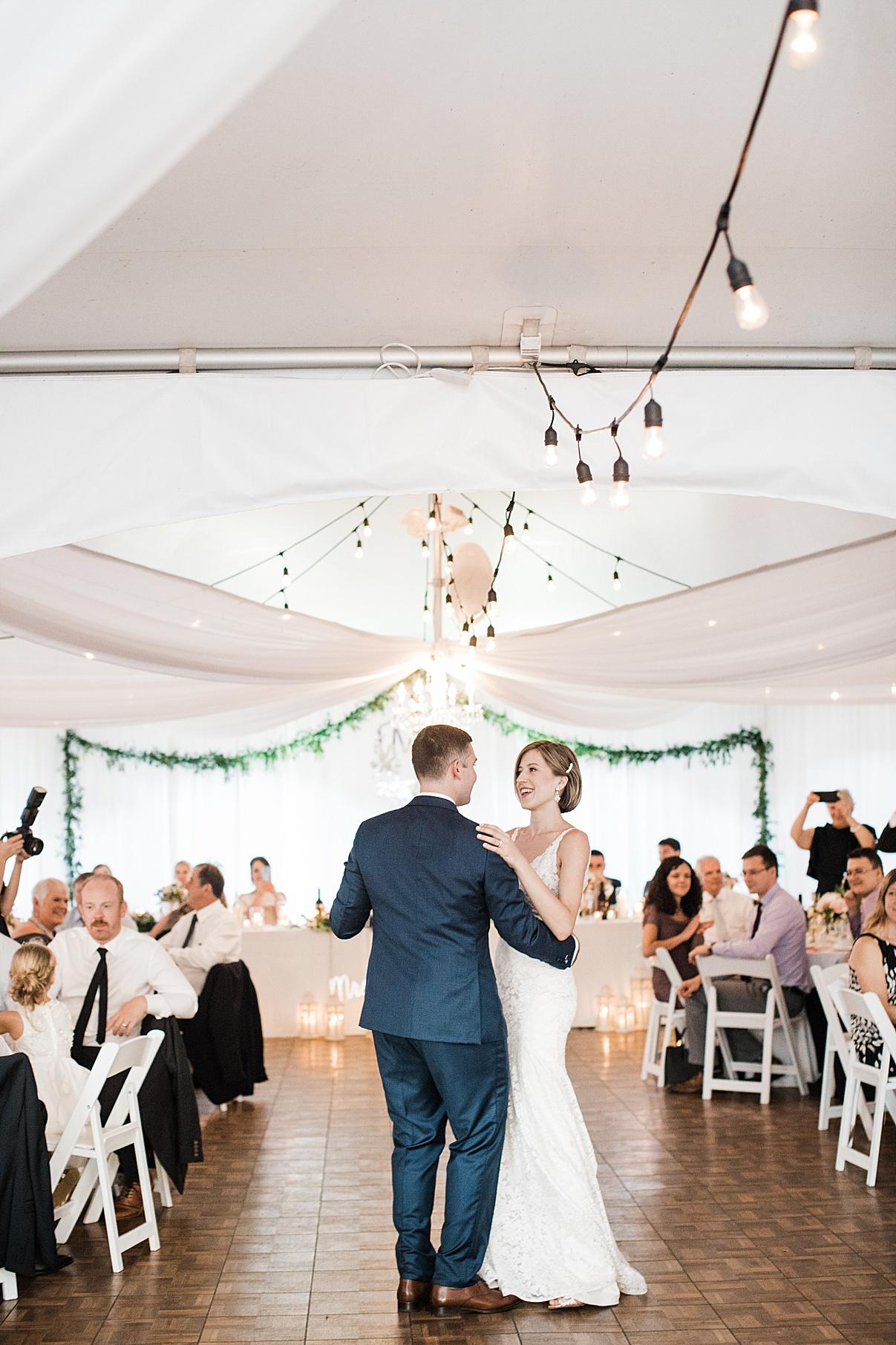 Groom and bride dancing first dance| Harding Waterfront Estate Wedding| Ontario wedding photographer| Toronto wedding photographer| 3 Photography | 3photography.ca