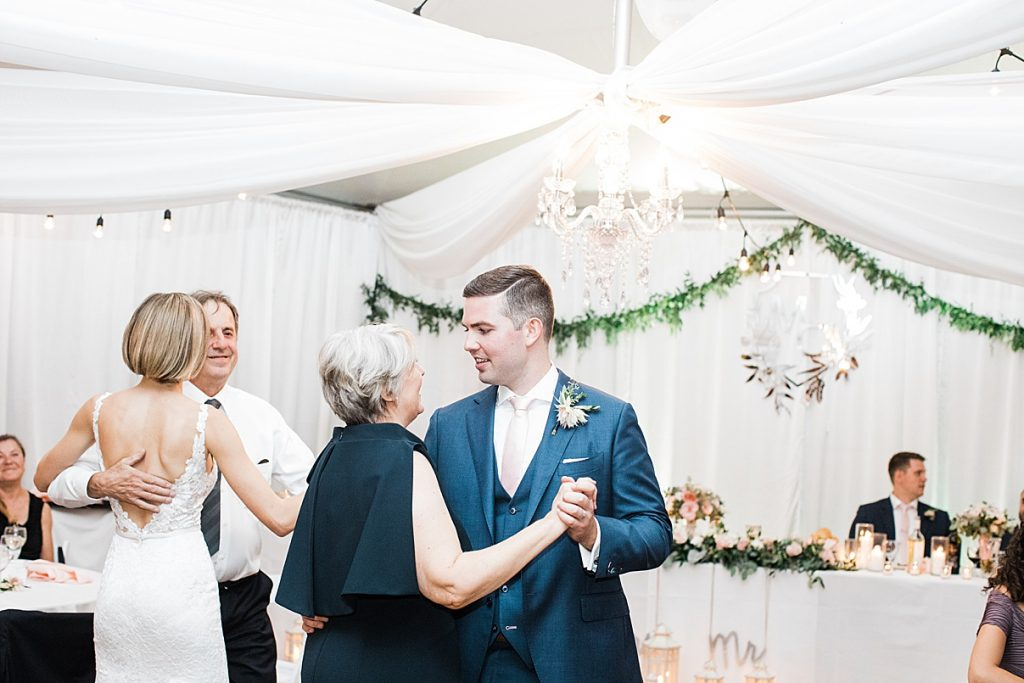 Bride and groom dancing with their parents| Harding Waterfront Estate Wedding| Ontario wedding photographer| Toronto wedding photographer| 3 Photography | 3photography.ca