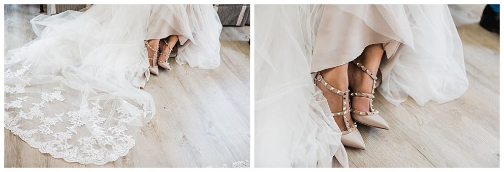 Gorgeous bridal shoes and gown| The George Restaurant Wedding| Toronto Wedding Photographer| Ontario wedding photographer| 3photography