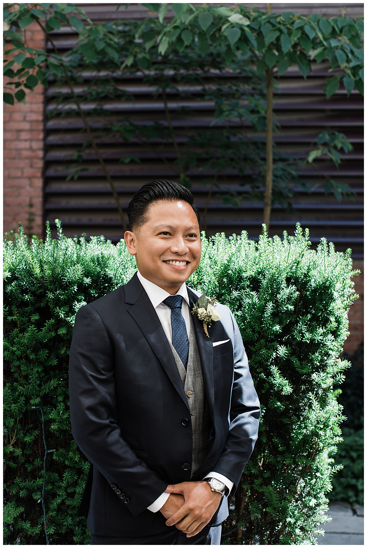 Groom standing at alter| The George Restaurant Wedding| Toronto Wedding Photographer| Ontario wedding photographer| 3photography
