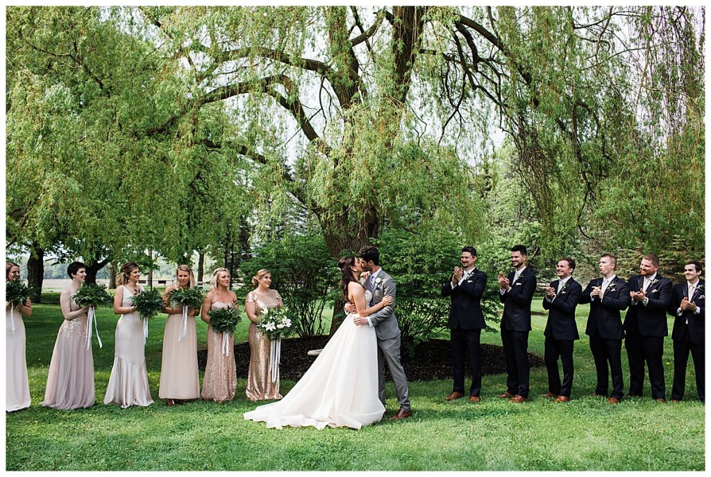 You may kiss the bride| tree farm wedding| Belcroft Estate Wedding| Toronto wedding photographer| Ontario wedding photographer| 3photography