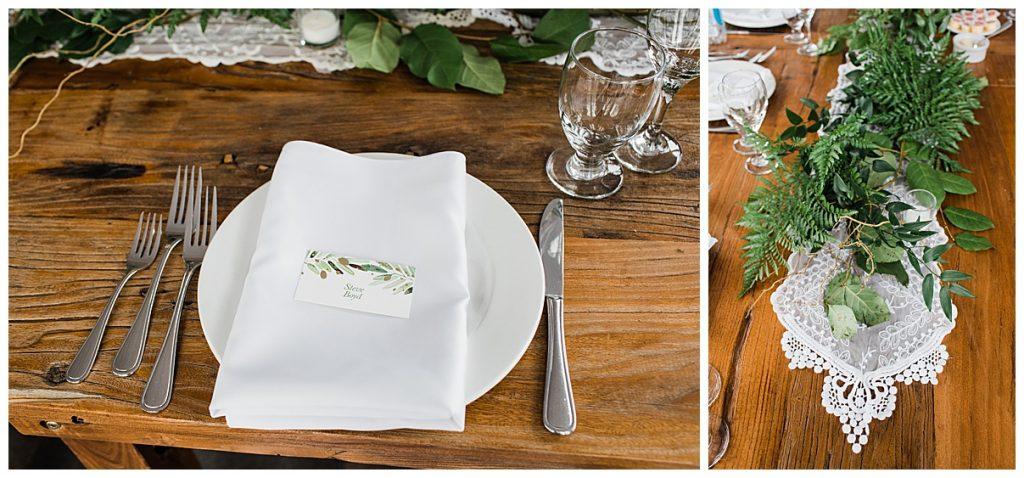Outdoor wedding reception place setting| Belcroft Estate Wedding| Toronto wedding photographer| Ontario wedding photographer| 3photography