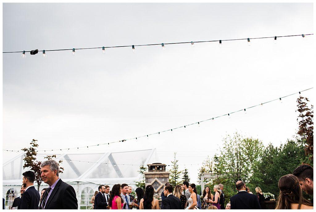 Outdoor wedding string-lights| Belcroft Estate Wedding| Toronto wedding photographer| Ontario wedding photographer| 3photography