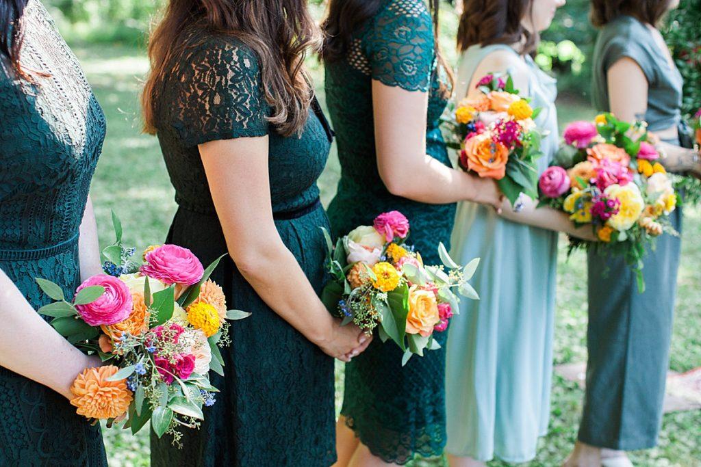 Bridesmaid boquets | Balls Falls, Ontario Wedding| Ontario Wedding Photographer| Toronto Wedding Photographer| 3Photography|3photography.ca