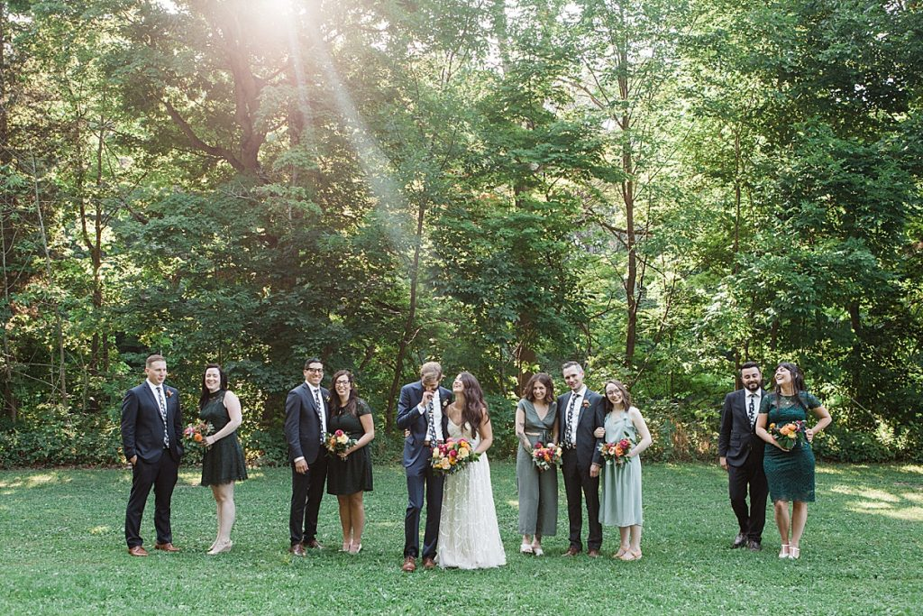 Bridal party outside | Balls Falls, Ontario Wedding| Ontario Wedding Photographer| Toronto Wedding Photographer| 3Photography| 3photography.ca