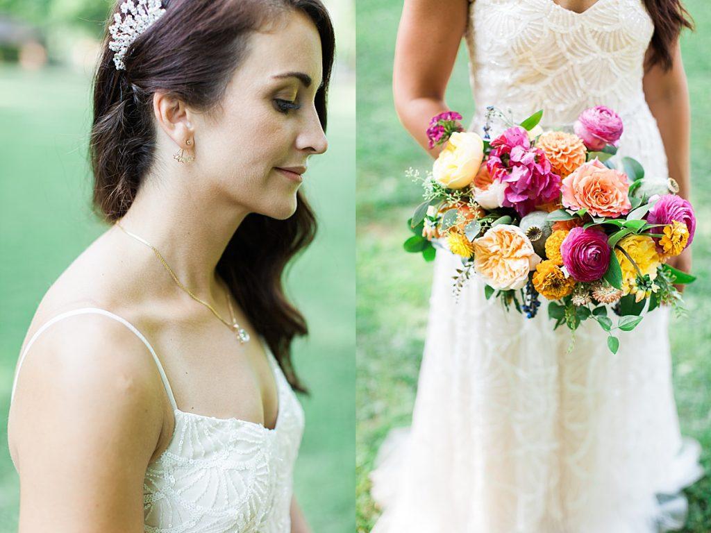 Bridal shot earrings and bouquet | Balls Falls, Ontario Wedding| Ontario Wedding Photographer| Toronto Wedding Photographer| 3Photography| 3photography.ca