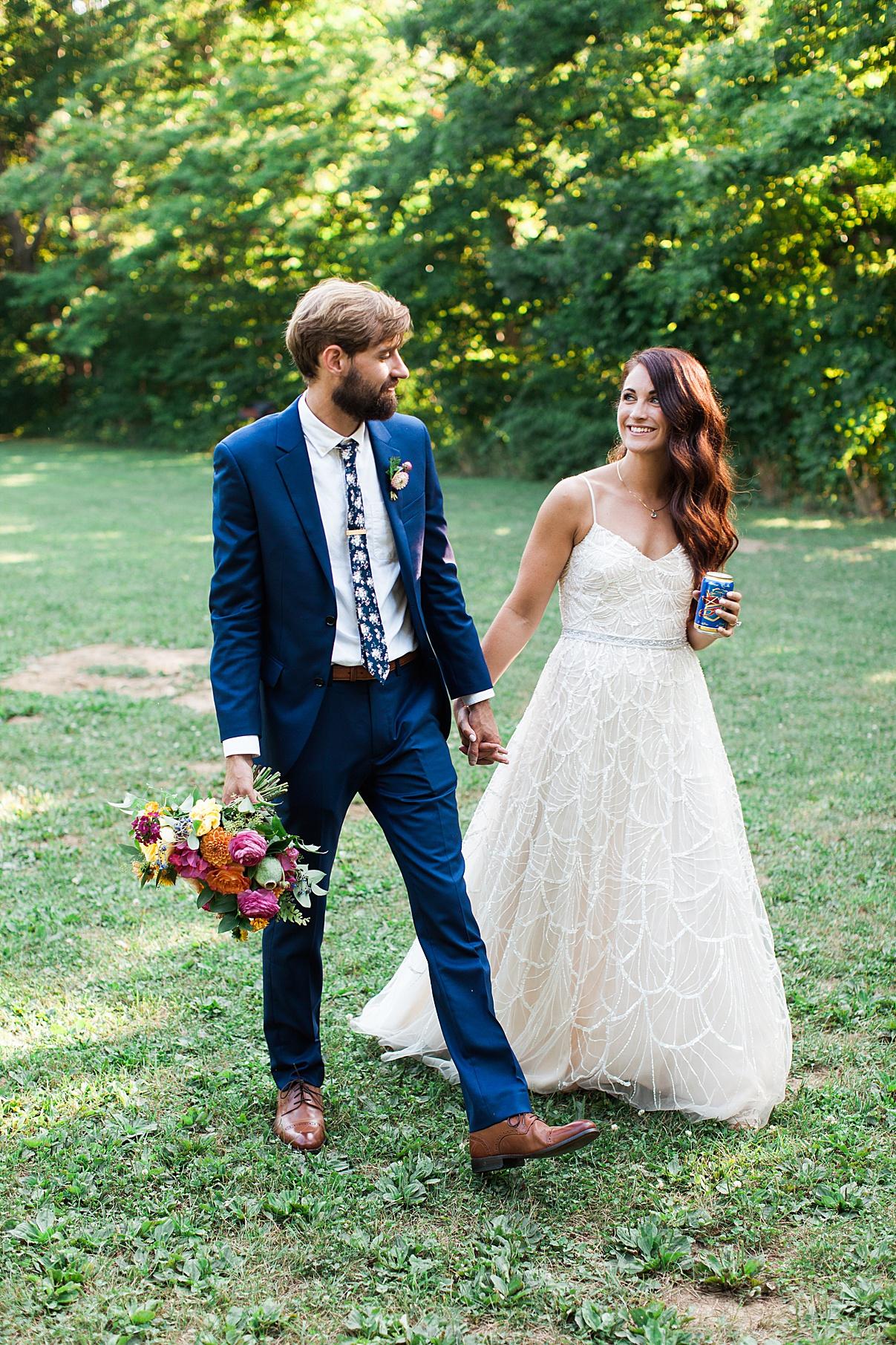 Bride and groom walking to wedding reception| Balls Falls, Ontario Wedding| Ontario Wedding Photographer| Toronto Wedding Photographer| 3Photography| 3photography.ca