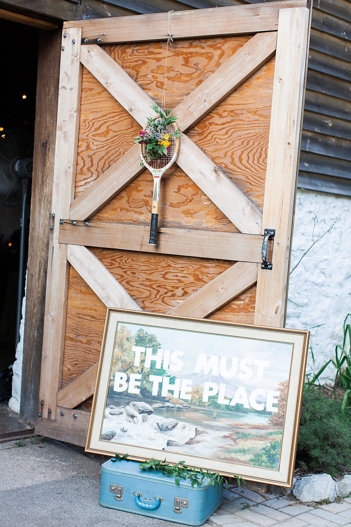 Barn door and sign for wedding reception | Balls Falls, Ontario Wedding| Ontario Wedding Photographer| Toronto Wedding Photographer| 3Photography| 3photography.ca