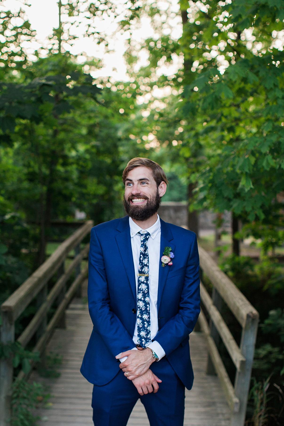 Groom portrait smiling | Balls Falls, Ontario Wedding| Ontario Wedding Photographer| Toronto Wedding Photographer| 3Photography| 3photography.ca