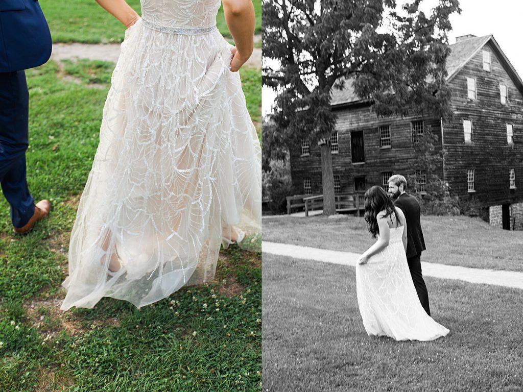 Bride walks off with her new husband | Balls Falls, Ontario Wedding| Ontario Wedding Photographer| Toronto Wedding Photographer| 3Photography| 3photography.ca