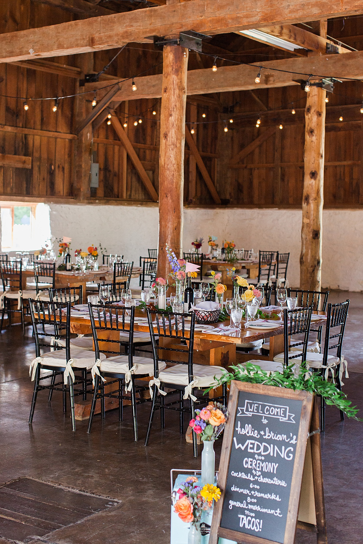 Reception table and sign at Balls Falls, Ontario Wedding| Ontario Wedding Photographer| Toronto Wedding Photographer| 3Photography| 3photography.ca
