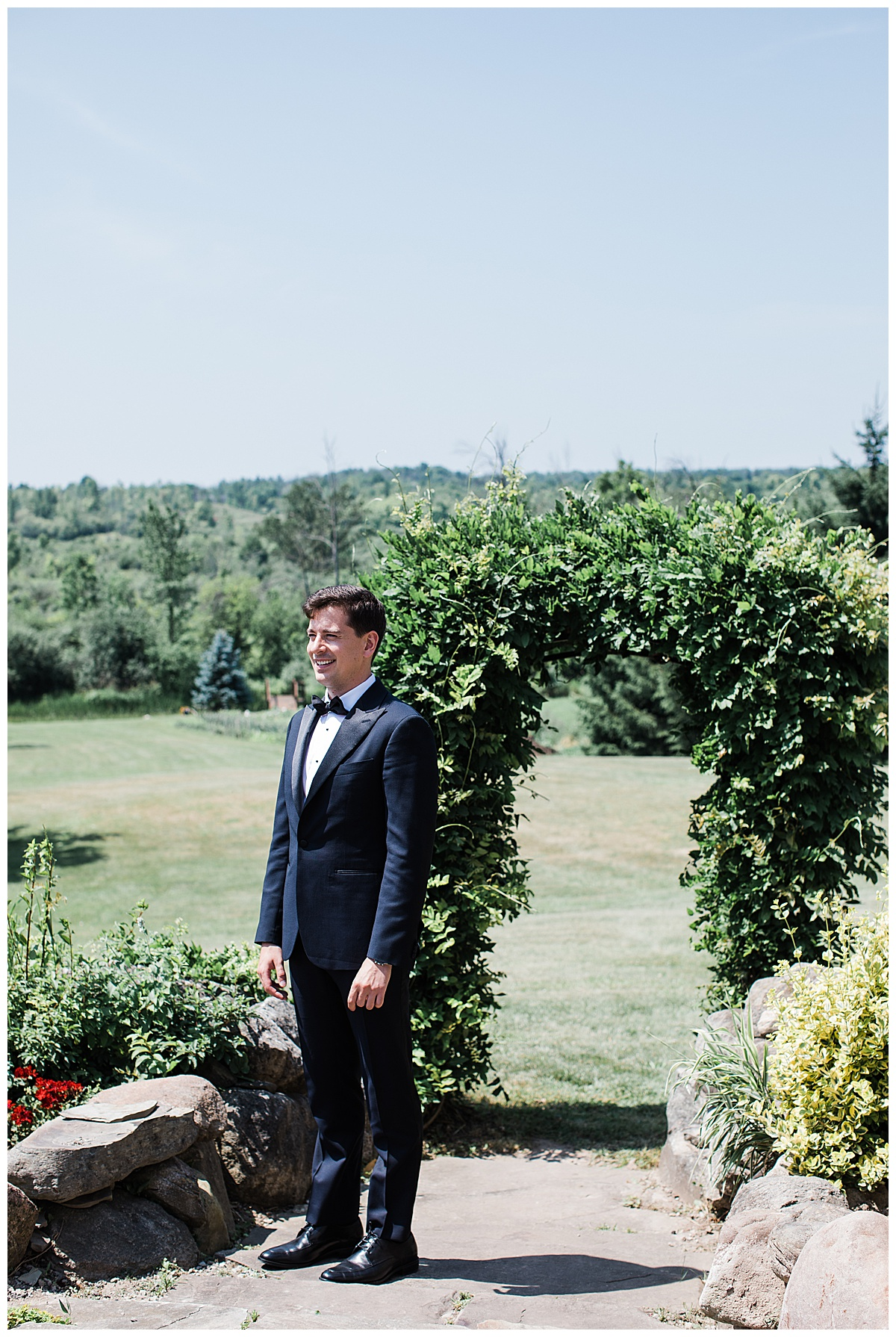 Groom before first look  Ontario wedding  Toronto wedding photographer  3photography