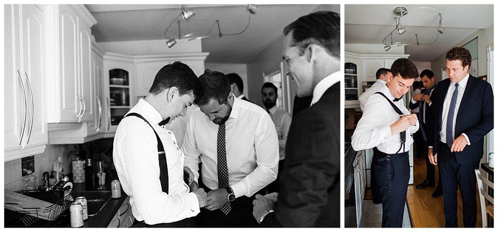 Groom and groomsmen getting ready  Ontario wedding  Toronto wedding photographer  3photography