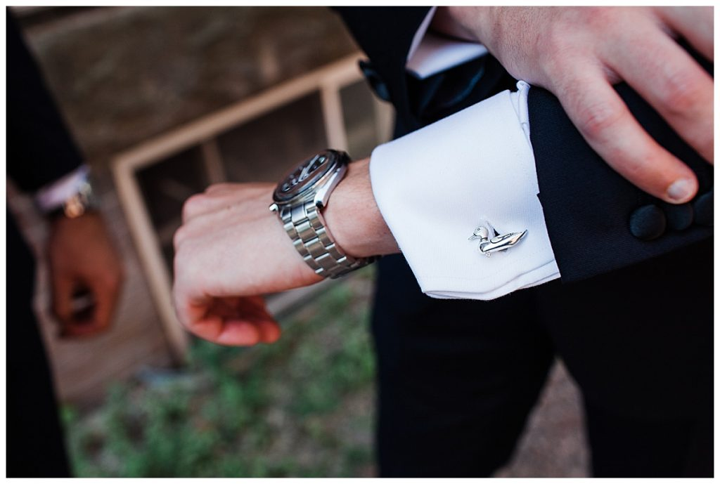 Groom cufflink and watch  Ontario wedding  Toronto wedding photographer  3photography