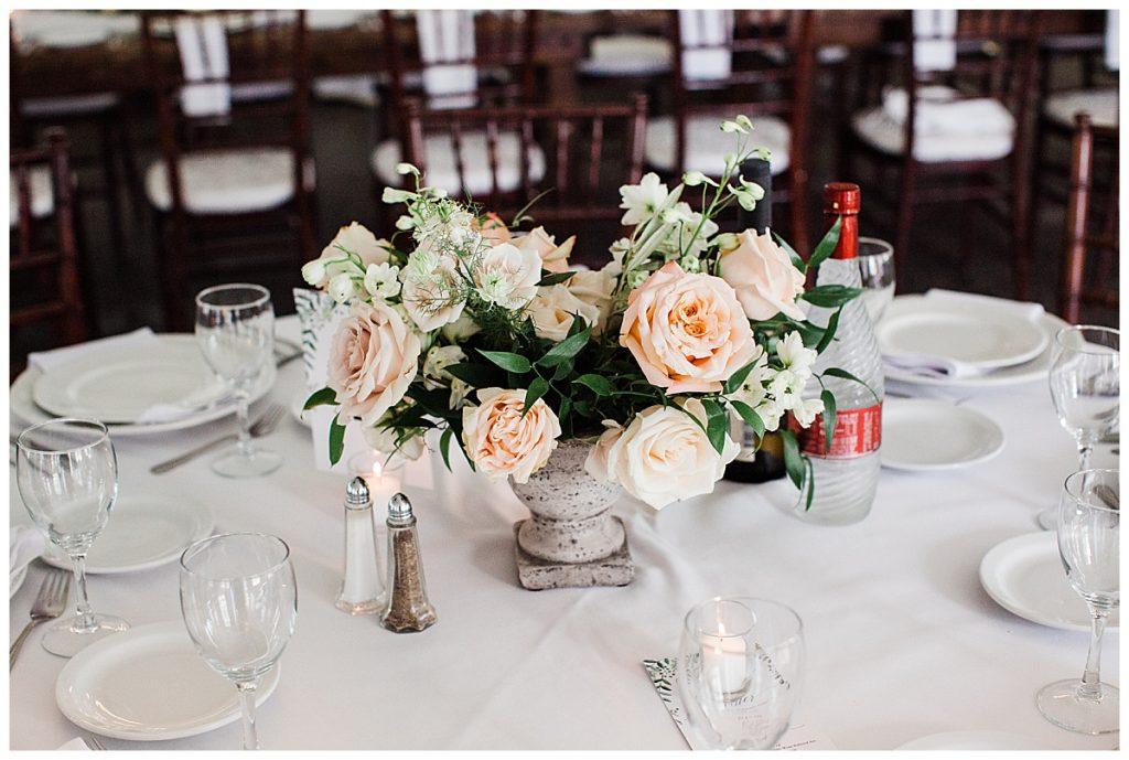 Wedding roses centerpiece  3photographer