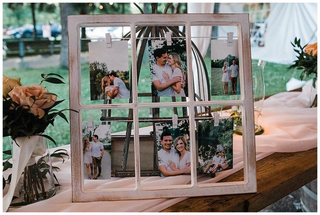 Window photo frame for Ontario wedding  3photography