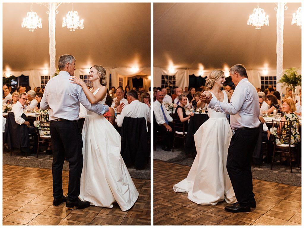 Father daughter dance at Ontario wedding  Toronto wedding photographer  3photography