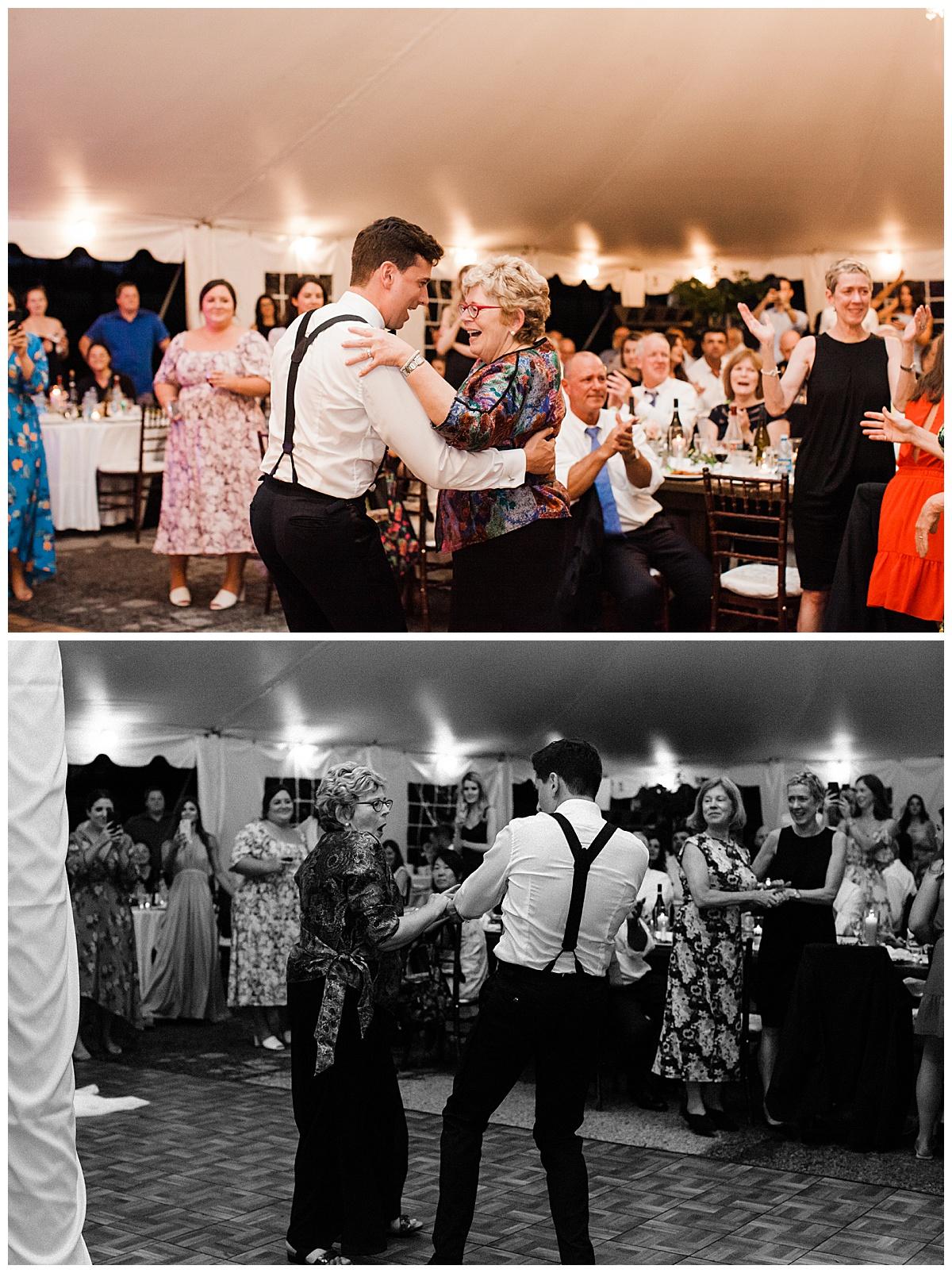 Groom dances with his mother  Ontario wedding  Toronto wedding photographer  3photography