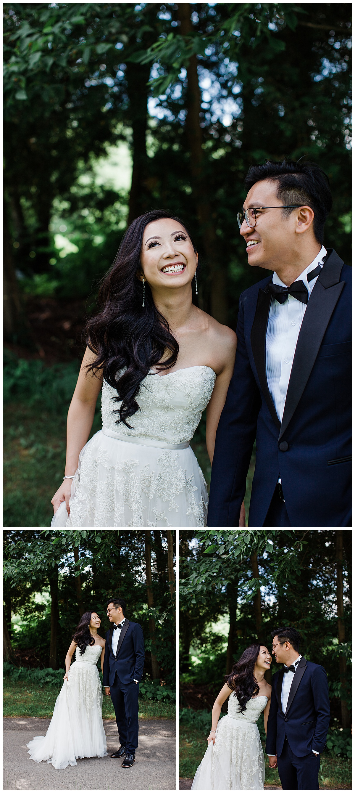 Bride and groom walking laughing and smiling| outdoor wedding| bride and groom portraits|first look| winery wedding| Toronto photographer|  3photography